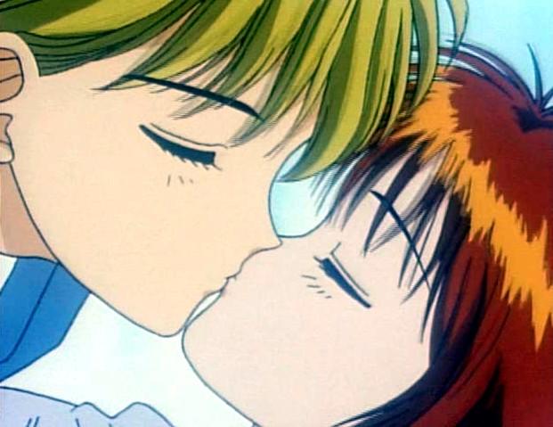 "Il ""first kiss"" tra Miky e Yuu di ""Marmalade Boy"" <3"