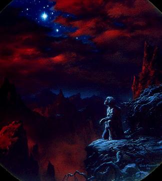Sam e la stella in un'illustrazione di Ted Nesmith
