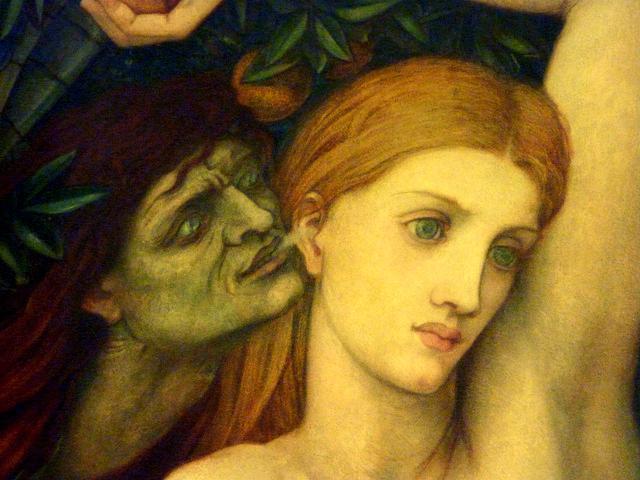 """Eva tentata"" di John Roddam Spencer Stanhope - Dettaglio"