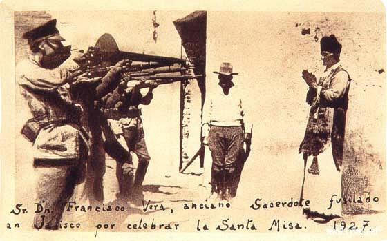 Cristeros, foto prete martire 1927