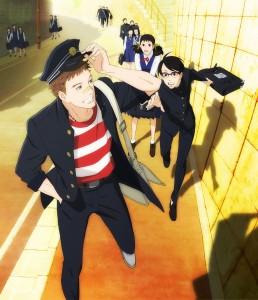 Sentaro, kaoru e  Ritsuko all'uscita da scuola