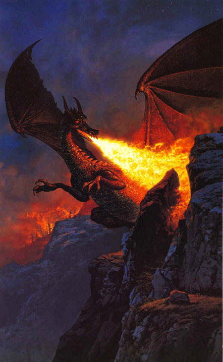 Scouring the Mountain - Ted Nasmith