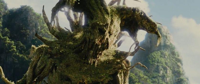 """Questo è il """"coso"""" verde di nome Balthazar che interpreta amabilmente """"la cacciata dal Paradiso"""""""