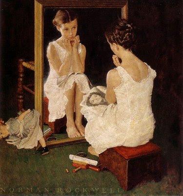 Norman Rockwell - Ragazza allo specchio -1954
