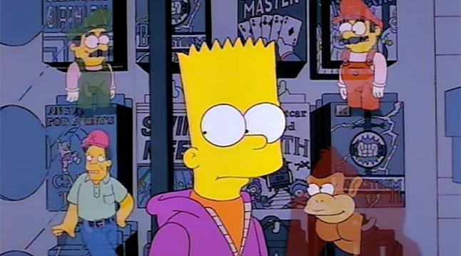 La coscienza di Bart rappresentata dagli spiriti dei video giochi