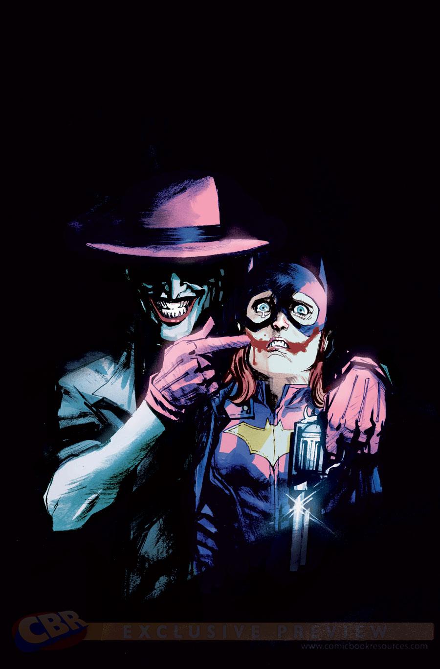 La variant cover di Joker e Batgirl di  Rafael Albuquerque