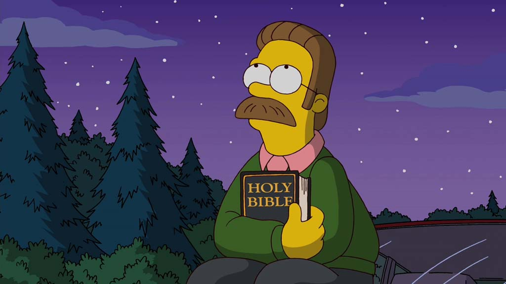Ned Flanders con la Bibbia