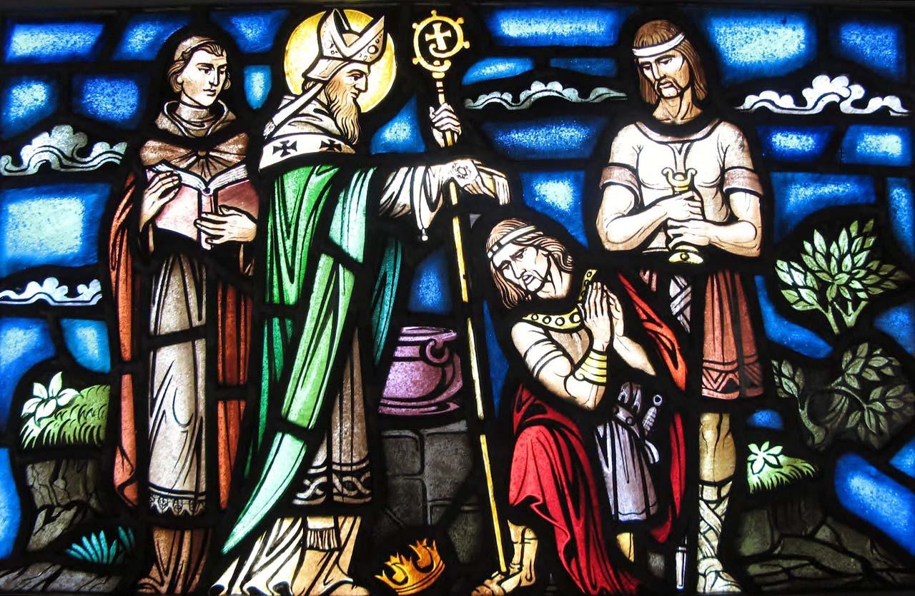 San Patrizio e il battesimo del re barbaro