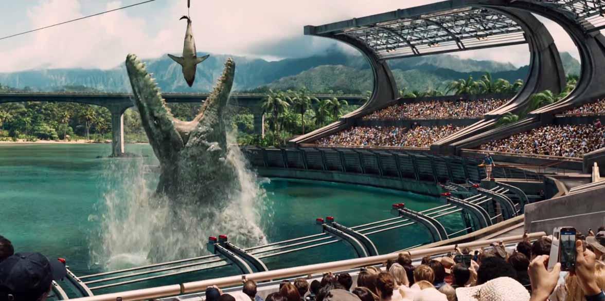 Jurassic World, mosasauro
