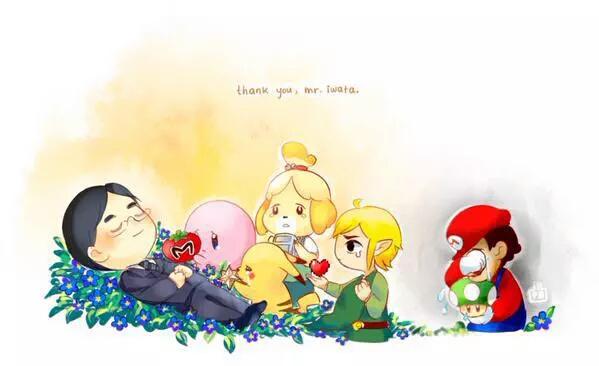 Una fan art dedicata alla dipartita di Satoru Iwata