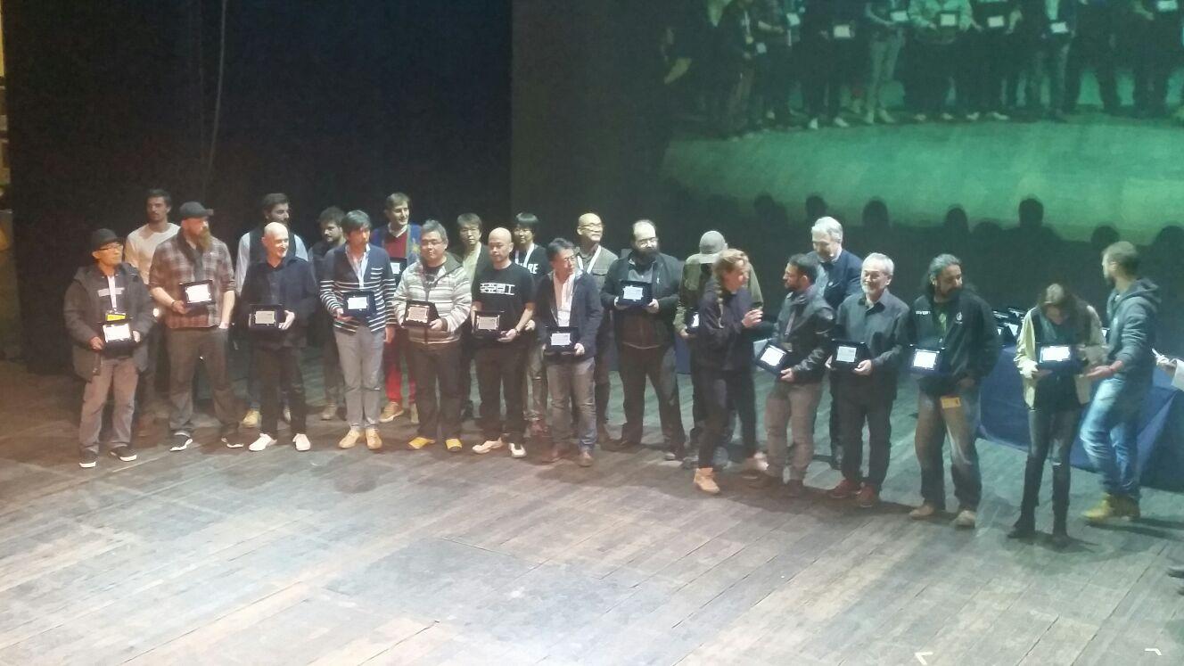 I vincitori durante la premiazione