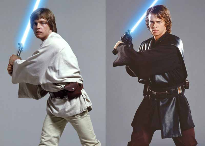 Luke e Anakin Skywalker