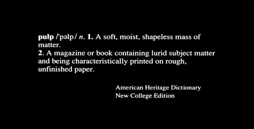 Pulp Fiction, American Heritage Dictionary