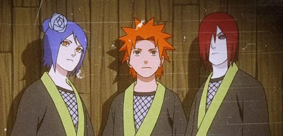 Nagato, Yahiko e Konan