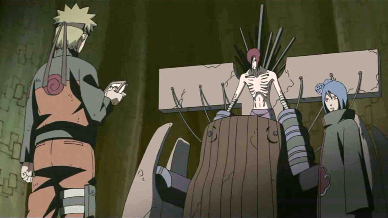 Naruto di fronte a Nagato