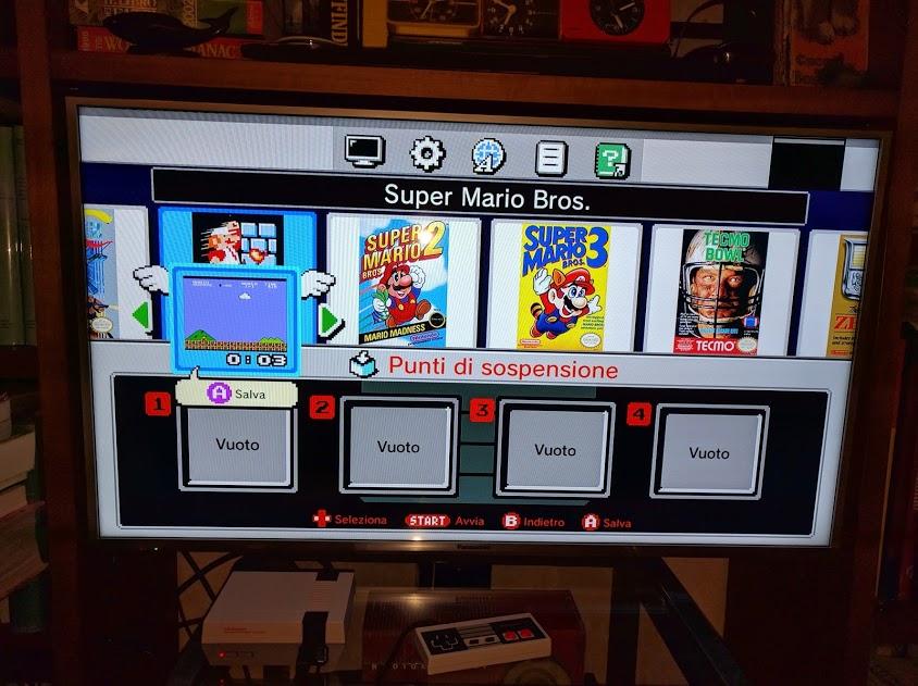 L'interfaccia del NES mini