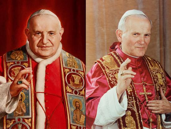Canonizzazione di Giovanni XXIII e Giovanni Paolo II
