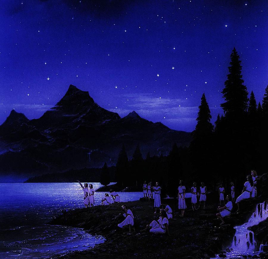 """Ted Nasmith """"At Lake Cuivienen"""""""